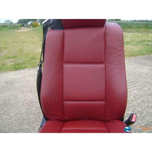 siege avant cuir rouge bmw e46 cabriolet. Black Bedroom Furniture Sets. Home Design Ideas