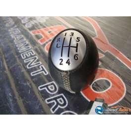 pommeau levier de vitesse cuir noir renault scenic 2