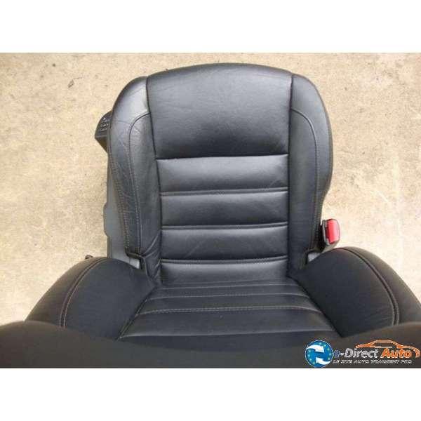 siege chauffeur cuir noir renault latitude electrique chauffant massant. Black Bedroom Furniture Sets. Home Design Ideas