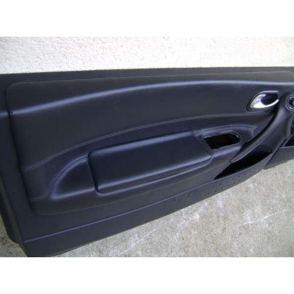 garniture panneau de portes interieur cuir noir renault megane 2 version 3 portes. Black Bedroom Furniture Sets. Home Design Ideas