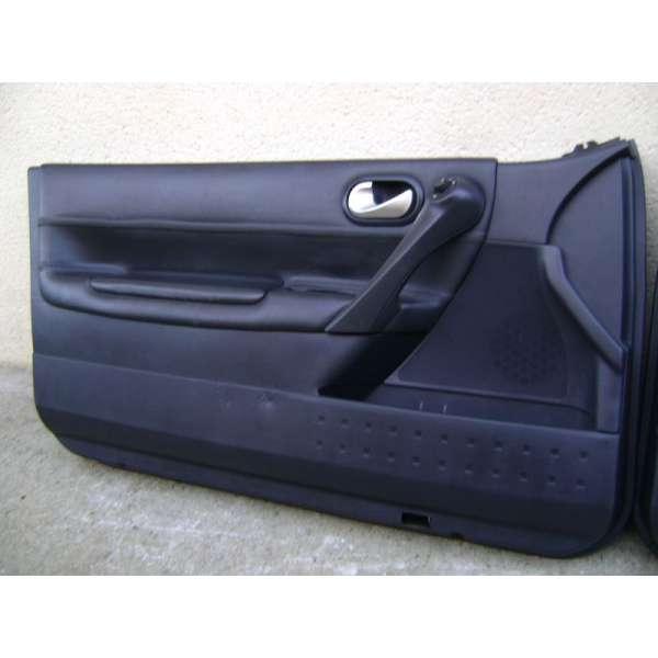 garniture panneau de portes interieur cuir noir renault megane 2 ...