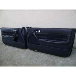 garniture panneau de portes interieur cuir noir renault