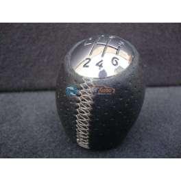 pommeau de levier de vitesse cuir noir renault megane 3 RS