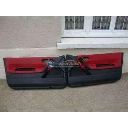 panneau interieur de porte cuir rouge pour renault megane 2 cc